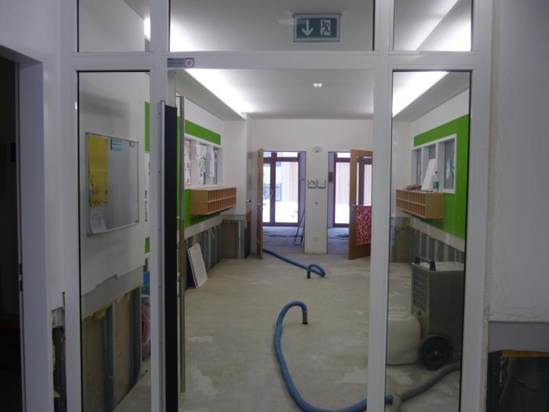 Beurteilung einer Wasserschadensanierung in einem Kindergarten